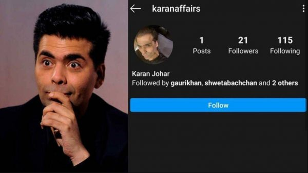 Karan Johar made his Instagram account private