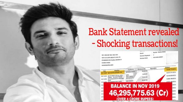 Sushant Singh Rajput's bank statement revealed