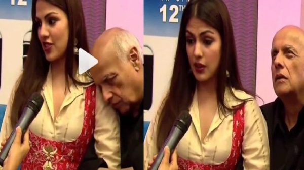 Cozy video of Rhea Chakraborty & Mahesh Bhatt