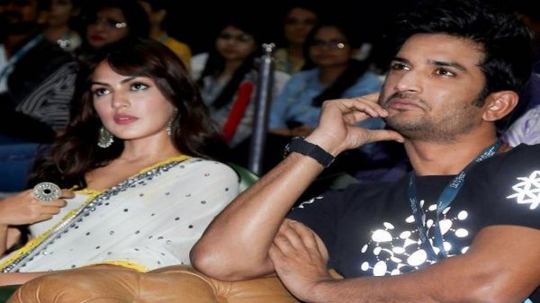 Sushant with Rhea