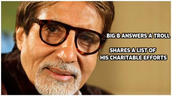 Amitabh's reply to a troll