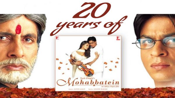 Mohabbatein turns 20