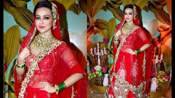 Sana Khan bridal look