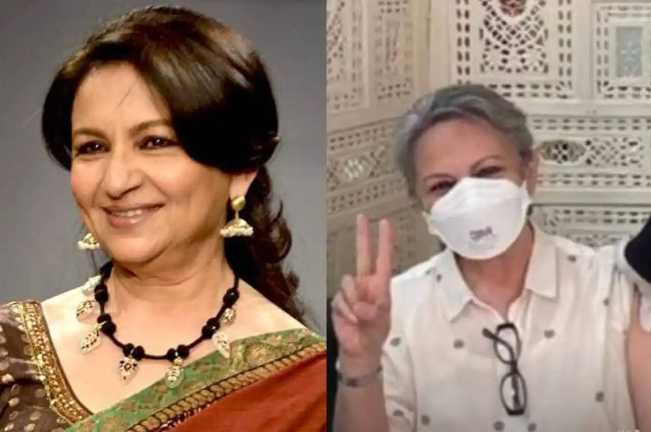 Sharmila Tagore receives the first dose of Covid-19 vaccine