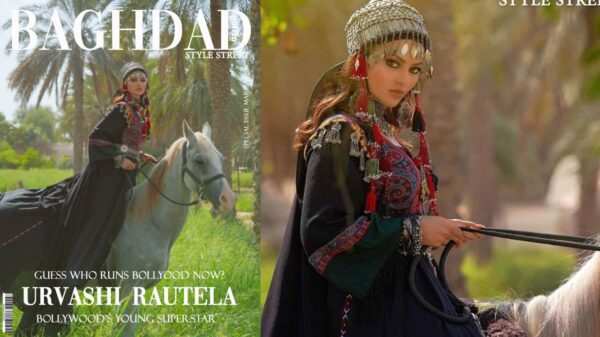 Urvashi Rautela featured on Baghdad Magazine Cover