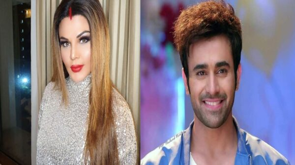 Rakhi Sawant Supports Pearl V Puri | Slams a man for staring while her support for Pearl V Puri