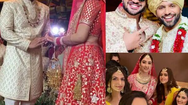 Groom Rahul Vaidya goes down on his knees with the ring | Watch the videos here