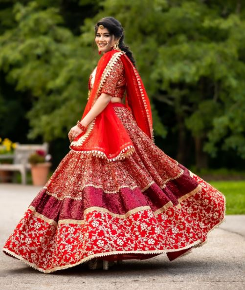 Anjali's Indian bridal outfit