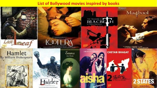 Bollywood Inspiration | List of Bollywood movies inspired by books